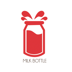 Logotype - milkbottle by haszuUu