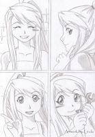 Winry times four by Leonora86