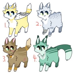 Cat Adoptable Batch [ #2 REOPENED ] by TangerineAdopts