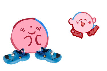 kirby crocs! by theultimatenootnoot