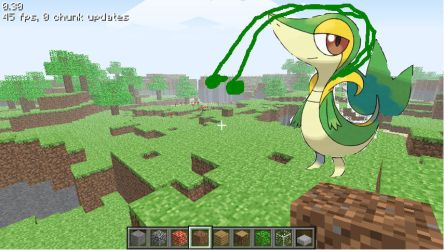 Snivy in Minecraft - ATTACKING, VERY RARE by bayleef632