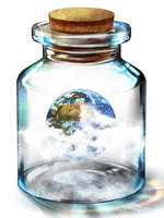 Earth in a bottle by Imperfection22