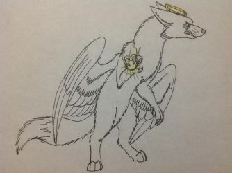 Jett the Angel Fox by RainbowGuppy1