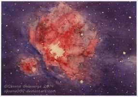 Orion nebula -watercolor by Oksana007