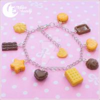Chocolate cookie mix Bracelet by CuteMoonbunny