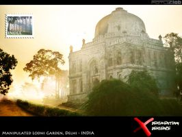 photo manipulated lodhi garden by fotuzlab