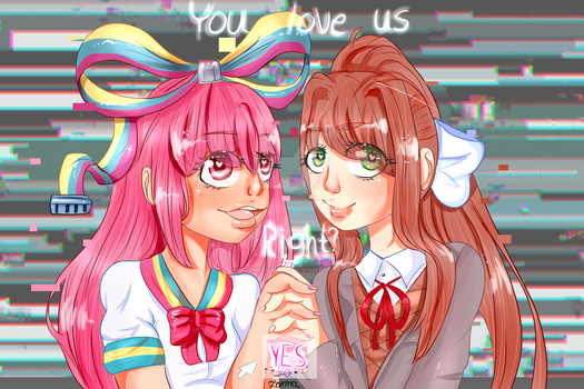 Giffany and Monika by mojmojsanna