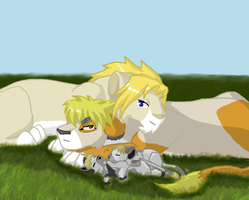FACE Family lions by Dei-Ryuu