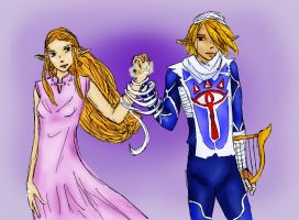 Zelda and Sheik - Bound by ryttu3k