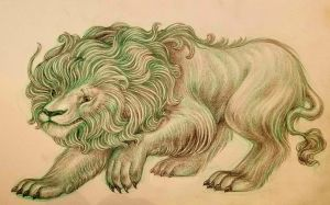 Lion character design sketch for children's book by snuapril01