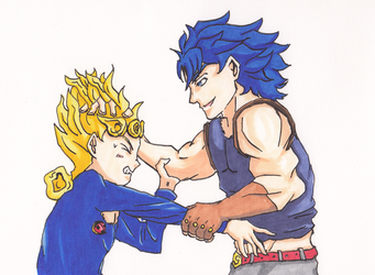 Giorno and Jonathan Fanart Copic Marker by GiraffeMeow