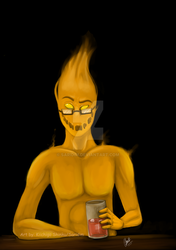 Grillby Hot in Snowdin by Saridim