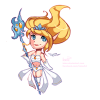 League of Legends - Janna (Chibi) by Ioioz