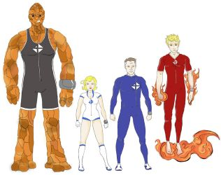 Fantastic Four for Project: Rooftop by JohnConklin