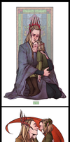 father and son and a little bit of Elrond by RinGreen