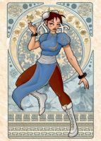 Chunli - Mucha style by Val-eithel