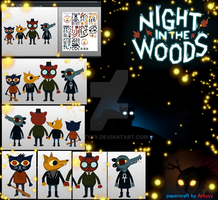Night in the woods papercraft by Antyyy