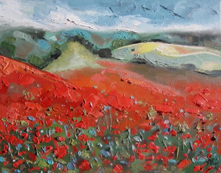 Fields of poppies by magdaurse