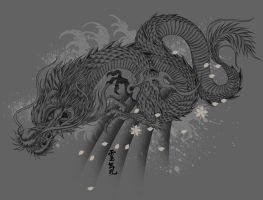 SHOULDER TATTOO DRAGON by BROWN73