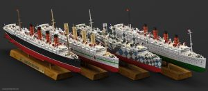 Mauretania Ocean Liner from 1906 to 1935 by WaskoGM