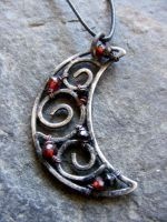 Garnet and Spinel Dark Moon by MoonLitCreations