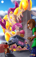 Kaiju vs Cancer:  Ice Cream Delivery, Kaiju style. by DR-Studios