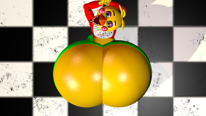 Toy Chica's seducing top view by ToyChicaFanBoy