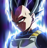 VEGETA ULTRA INSTINCT by Cholo15ART