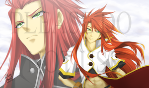 Luke and Asch - ToA Mat Design by LightSilverstar