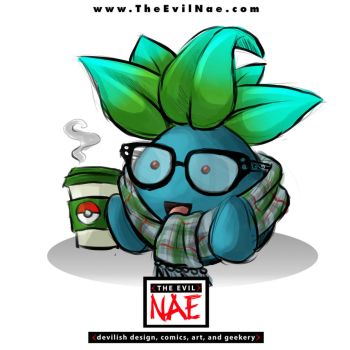 Peculiar Pokemon Hipster Oddish by TheEvilNae