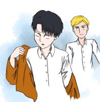 Erwin and Levi by MidLangley