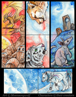 ACEO Cards: Lost Worlds by MoonsongWolf