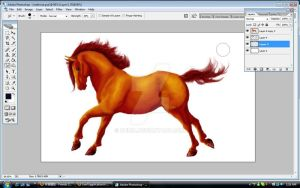 WIP Red Horse 3 by Dhria