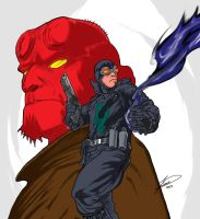Hellboy and Lobster Johnson by Drakenkaizer
