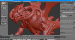 WIP: The learn-to-sculpt dragon by molegato