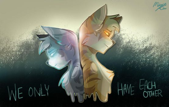 Jayfeather and Lionblaze: we only have eachother by minneo