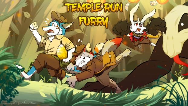 Commission Art : Temple Run Furry by doraemonbasil