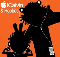 iPod: Calvin and Hobbes by TGrrr89