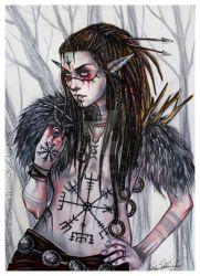 Nordic Warrior by Hollow-Moon-Art