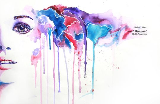 Watercolor: Soul Washout by clitiatco