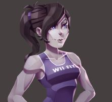 One face a day #35/365. Square Wii Fit Trainer by Dylean