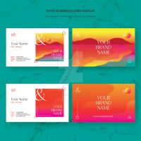 Hype Business Card Vector Template by pixiagraphics