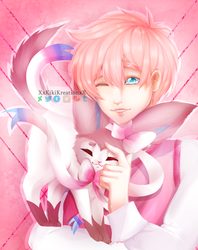   FanART   MnMP : 2p England and Sylveon :RE-DRAW: by KikiKreation