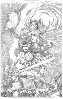 Thor and Sif by wrathofkhan