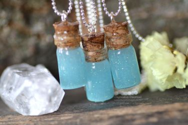Magical bottle potion (Resin necklace) by Crystarbor
