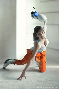Chell - Portal 2 by lAmikol