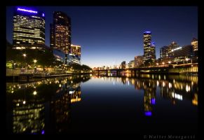 Melbourne lights by colpewole