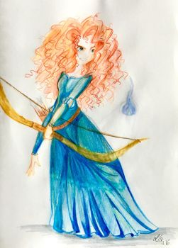 Disney - Brave / Merida by LilyShiorato