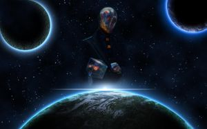 Wallpaper outer space by Roydz