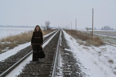 Woman and tracks Stock by JustinByerline-Stock
